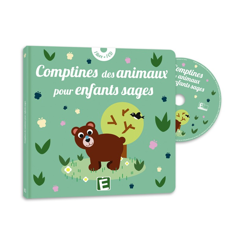 livre cd comptines des animaux pour enfants sages eveil et d couvertes. Black Bedroom Furniture Sets. Home Design Ideas